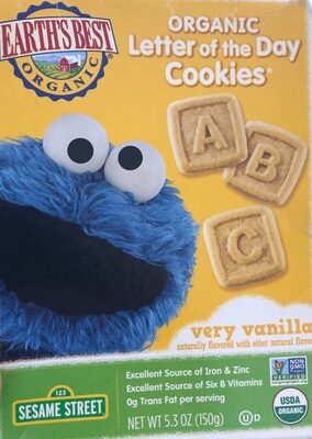 Organic organic letter of the day cookies - Product - en