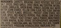 Veggie Medley Nuggets - Ingredients