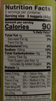 Veggie Medley Nuggets - Nutrition facts