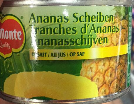Del monte, pineapple slices in juice - Produkt - de