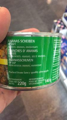 Pineapple slices in juice - Ingredienti