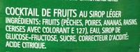 Cocktail de fruits au sirop - Ingredients