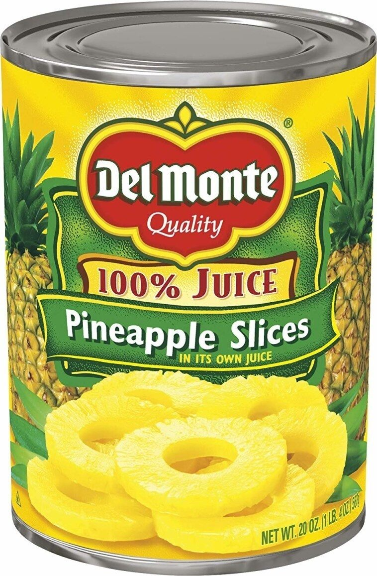 Pineapple Slices in 100% Juice - Produkt - en