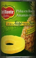 Del monte, pineapple slices in juice - Producto - es