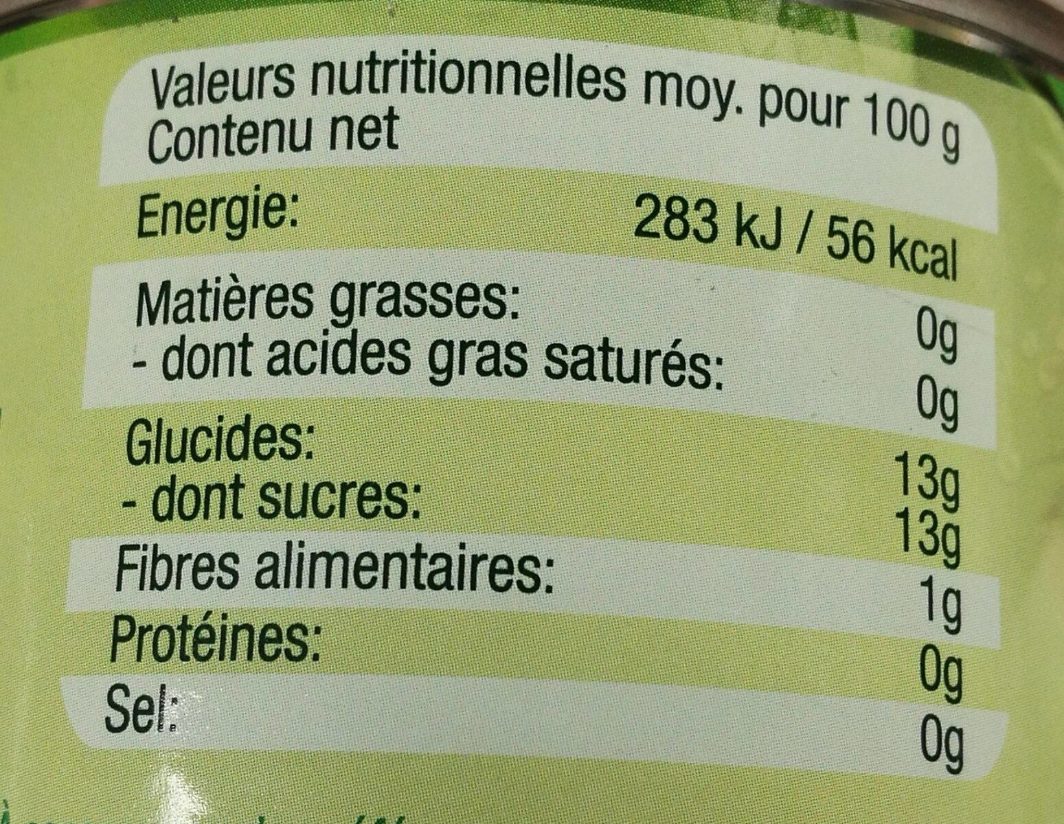 Pineapple Slices in 100% Juice - Nutrition facts - en