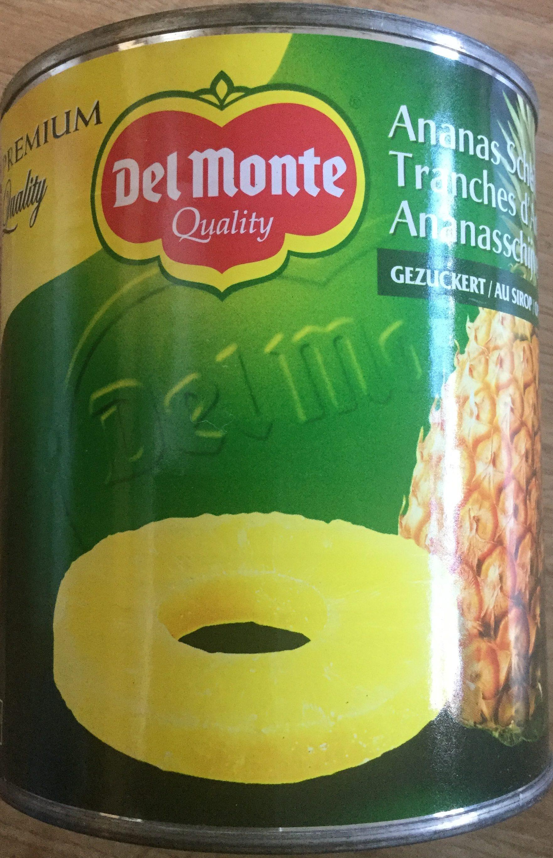 Ananasschijven op siroop - Product - nl