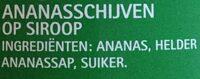 Ananasschijven op siroop - Ingredients - nl