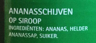 Pineapple slices in heavy syrup - Ingrediënten - nl