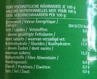 Pineapple slices in heavy syrup - Voedingswaarden - en