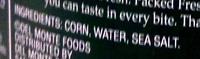 Whole Kernel Corn - Ingredients