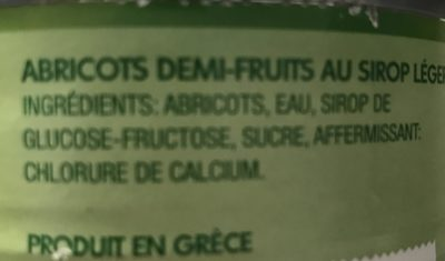 4X4 Abricot Sirop D.monte, - Ingrediënten - fr