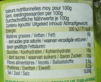 Birnen Halbe Frucht - Informations nutritionnelles - de