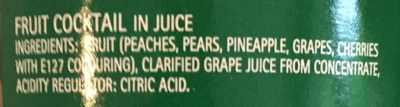 Fruit Cocktail in Juice - Ingredienti - en