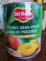 Peches demi-fruits Au jus - Product - fr