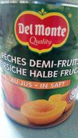 Peches demi-fruits Au jus - Ingrediënten - fr