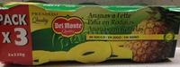 Piña en rodajas en su jugo pack 3 latas 140 g - Producto