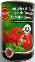 Fein gehackte Tomaten mit Basilikum - Produit - de
