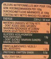 Fruit fusions pêches et poires - Voedingswaarden