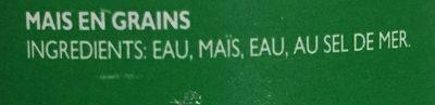 Grains de Maïs Entiers - Ingredients