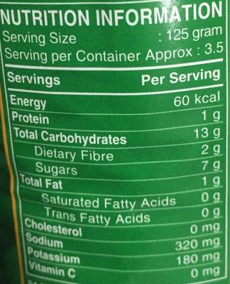 Grains de Maïs Entiers - Nutrition facts