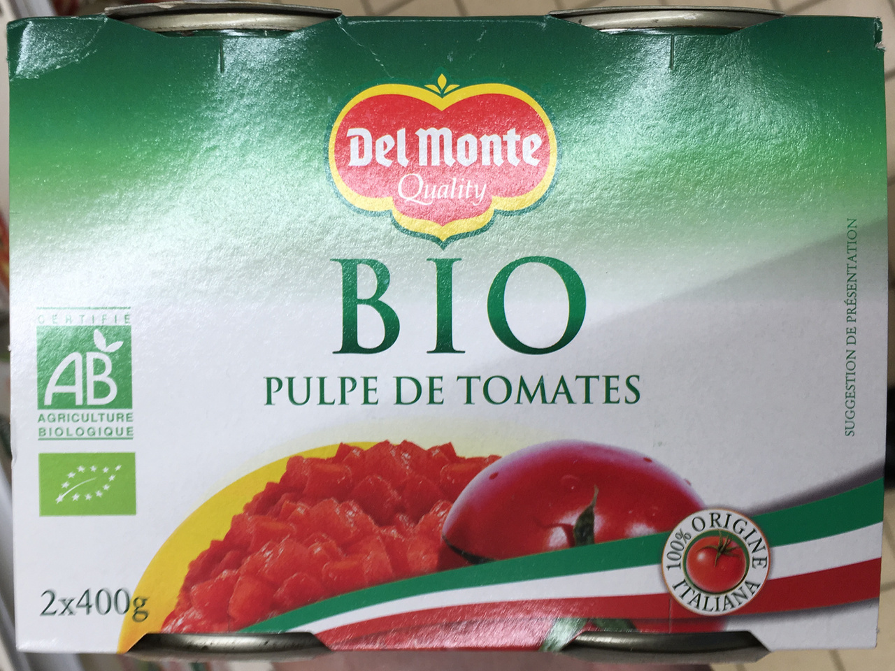 Pulpe de tomates bio - Product - fr