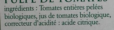 Pulpe de tomates bio - Ingrediënten - fr