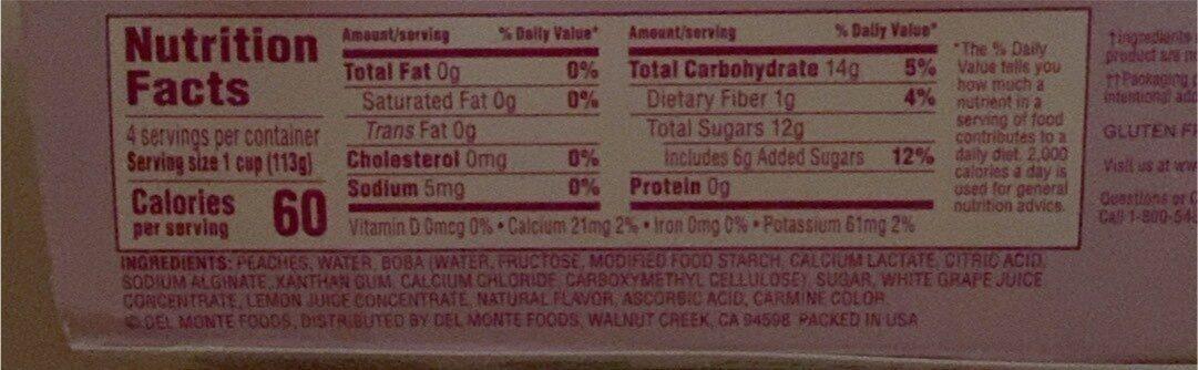 Bubble fruit peach strawberry lemonade & popping - Nutrition facts - en
