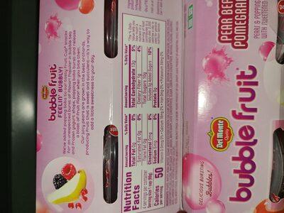 bubble fruit - Ingrédients - en