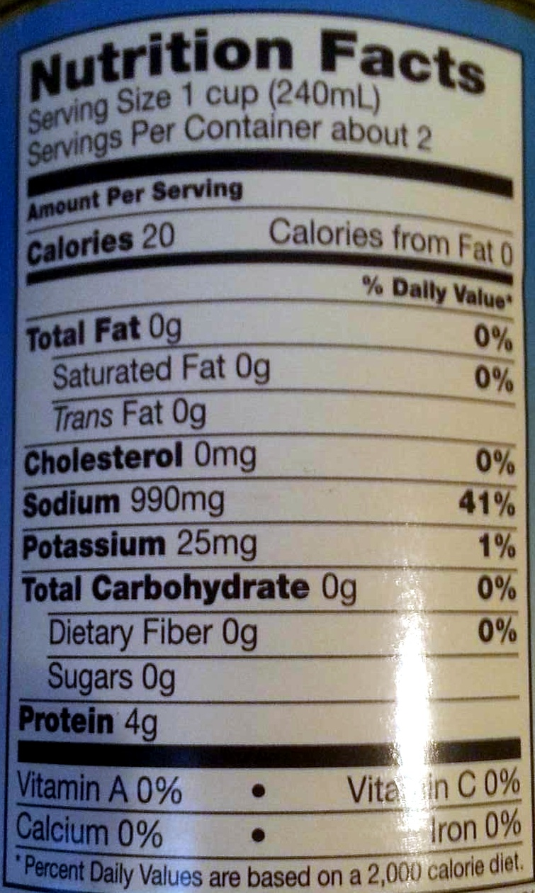 Beef Broth - Nutrition facts