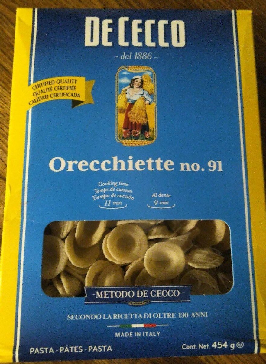 Orecchiette n•91 - Produit - fr