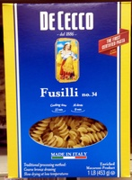 Fusilli no.34 - Product