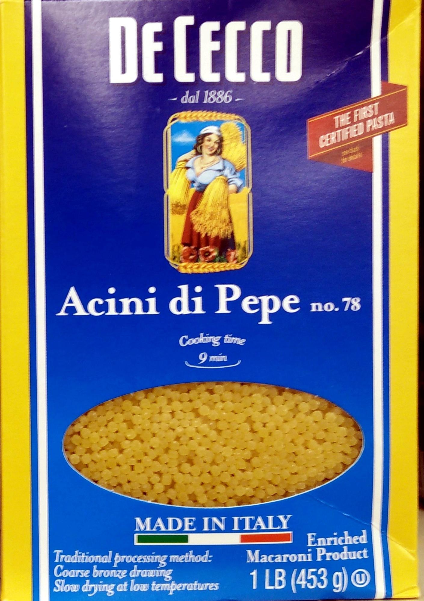 Acini di Pepe no. 78 - Product