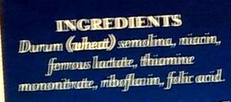 Acini di Pepe no. 78 - Ingredients
