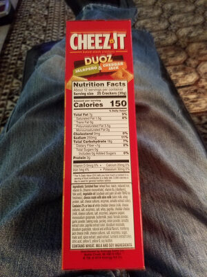 Sunshine Cheez-It Crackers Cheddar Jack 12.4oz - Produit