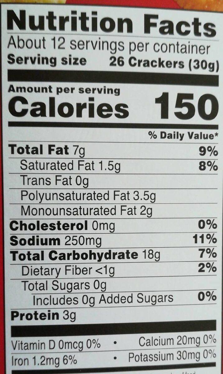 Sunshine Cheez-It Crackers Cheddar Jack 12.4oz - Informations nutritionnelles - en