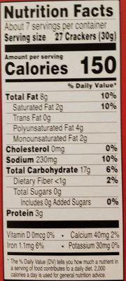 Cheez-It - Nutrition facts