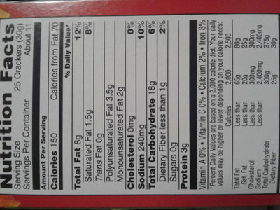 Cheez-It Duoz: Sharp Cheddar & Parmesan - Nutrition facts