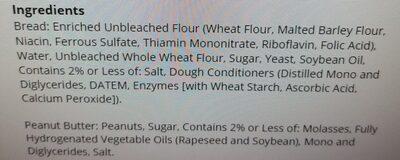 uncrustables - Ingredients