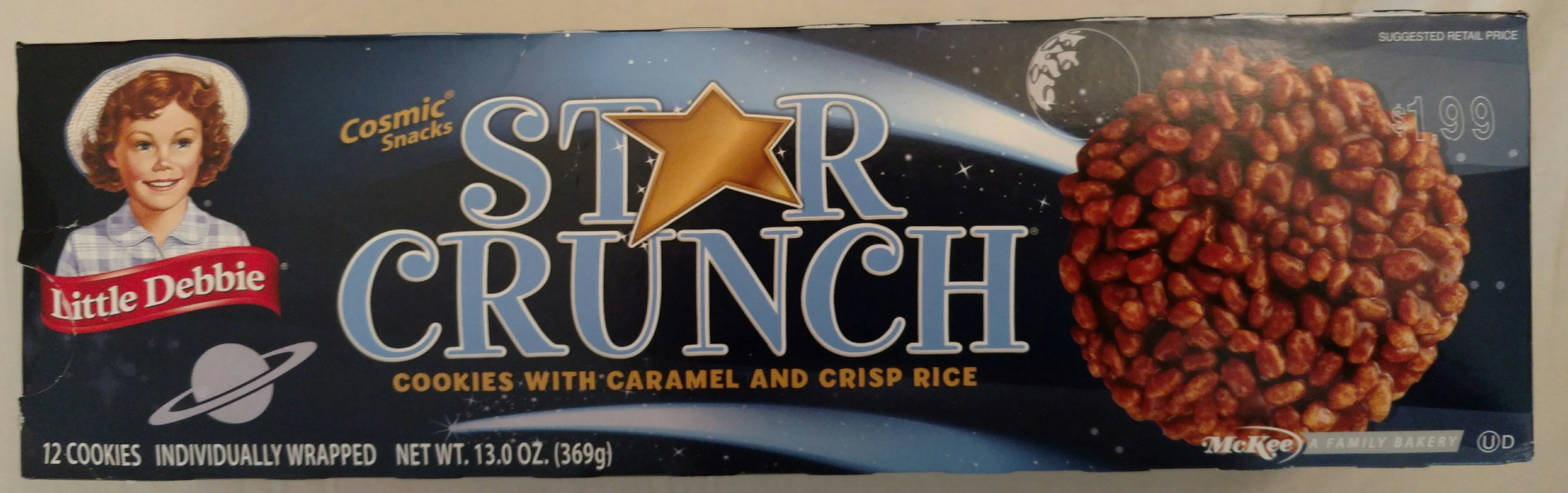 Cosmic snacks cookies with caramel and crisp rice - Product - en