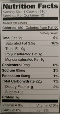 Cosmic snacks cookies with caramel and crisp rice - Nutrition facts - en