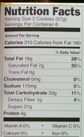 Nutty Bars - Nutrition facts