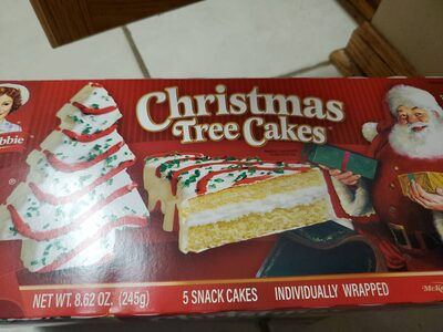 Christmas tree snack cakes - Product - en