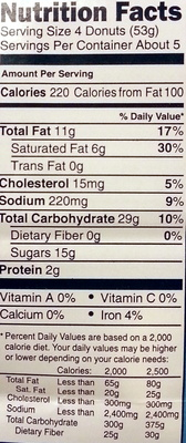 Mini Powdered Donuts nature - Nutrition facts