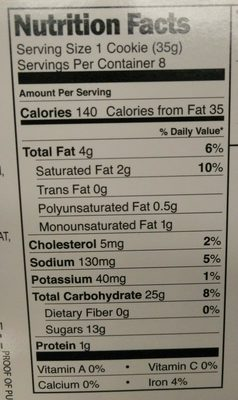 Strawberry filled cookies - Nutrition facts - en