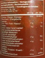 Sriracha Chili Sauce - Nutrition facts - en