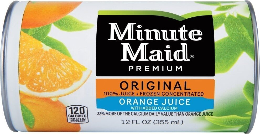 Orange juice with added calcium frozen concentrate fruit drink - Product - en