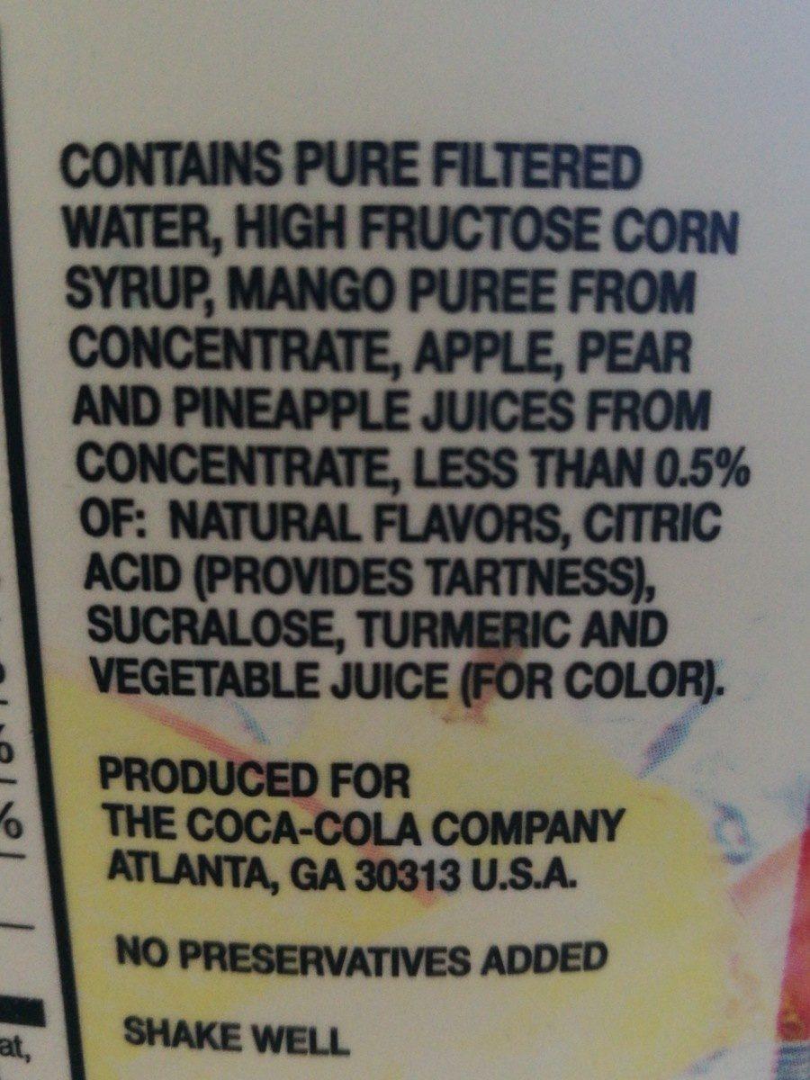 Mango punch - Ingredients