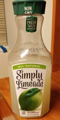 Simply lemonade lime juice - Produit - fr