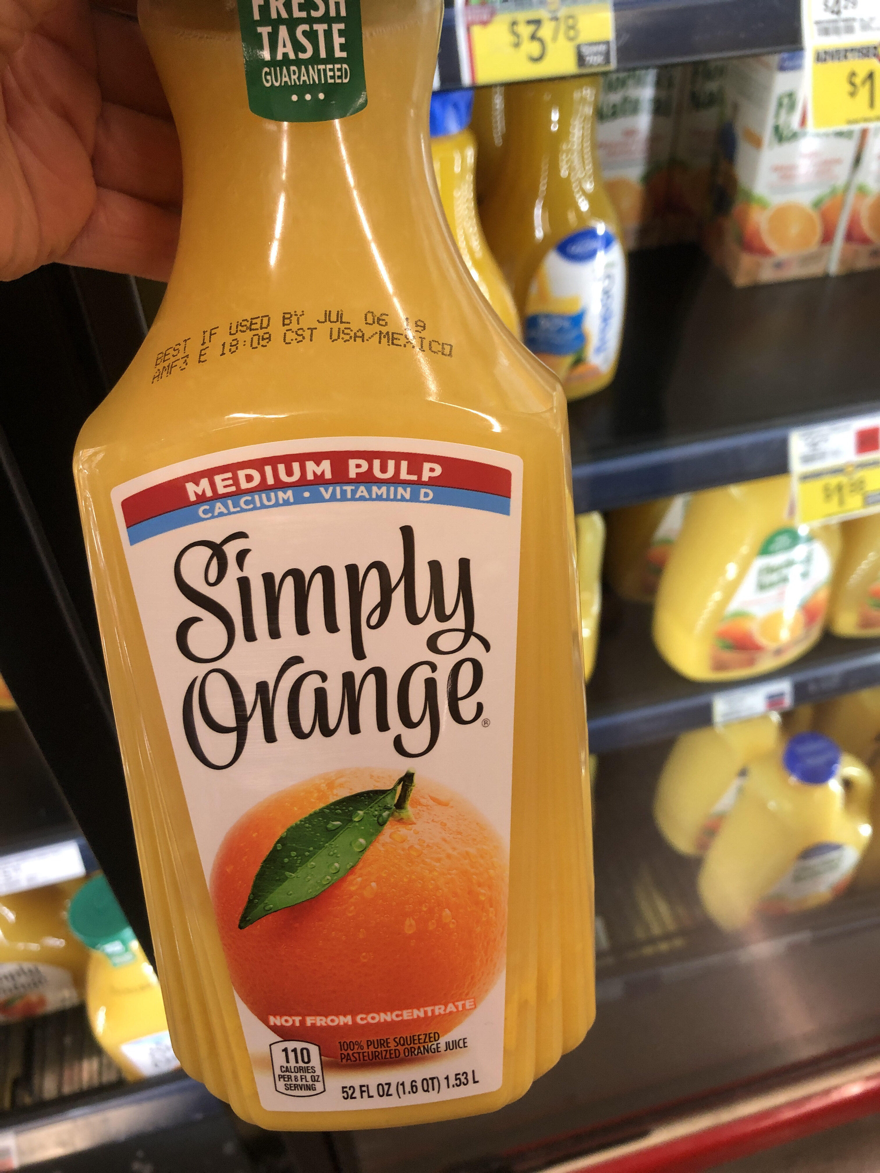 100% Pure Squeezed Pasteurized Orange Juice - Product