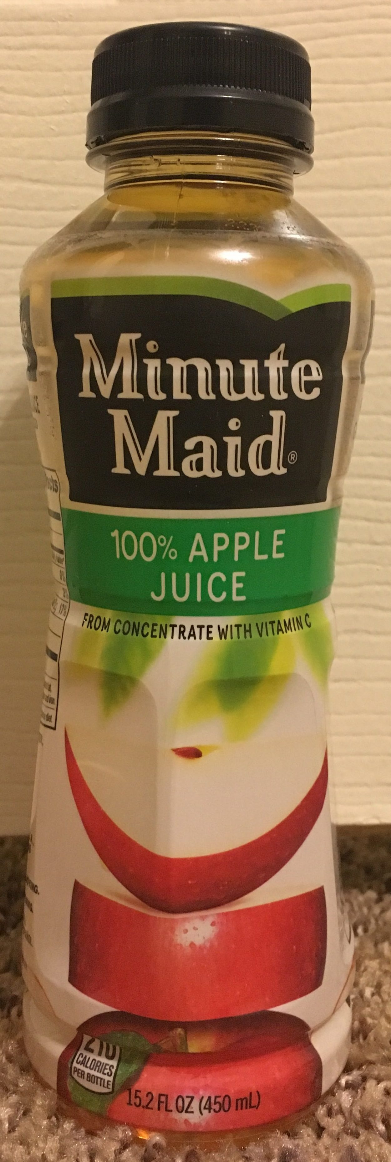 Minute Maid Apple Juice Nutrition Label